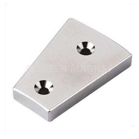 Segment neodymium magnet for wind turbine generator motors