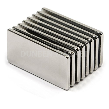 N52 20X10X2mm Strong Block Cuboid Fridge Magnets Rare Earth Neodymium Magnet