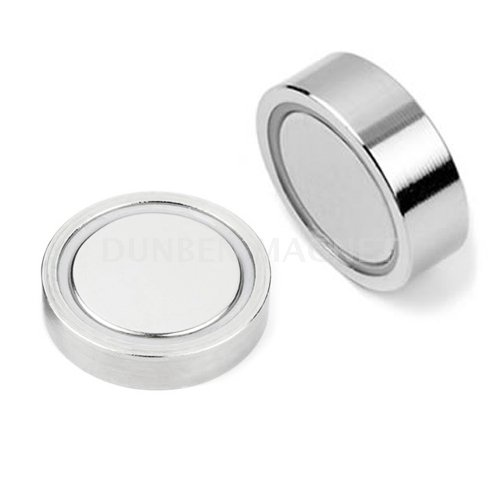 Strong Powful Holding Force Neodymium Flat Cup Magnets,Neodymium Glue-in pot Magnets,Flat Neodymium Gripper, Flat Mounting Magnet