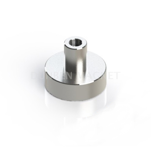 Nickel coating Powful NdFeB Pot Magnet with Internal Female Thread,Sintered NdFeB Heavy Duty Pot Magnet,Strong Ultra Cup Magnet , Mounting Pot Magnet, Magnetic Mount Holder, Holding Magnets