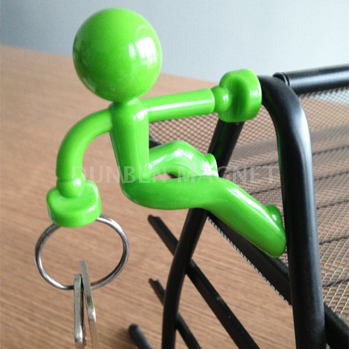 Decorative Key Pete Man Key Holder, Hold Strong Magnetic Hook,Rack Colourful Gift Key Chain,Strong Magnetic Key Holder Hook with Wall Climbing Man