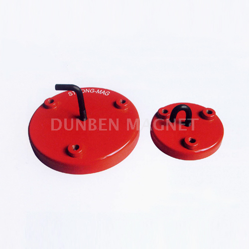 Red strong holding powerful magnetic ferrite magnetic hook,magnetic holder,magnetic base,ferrite limpet pot magnet