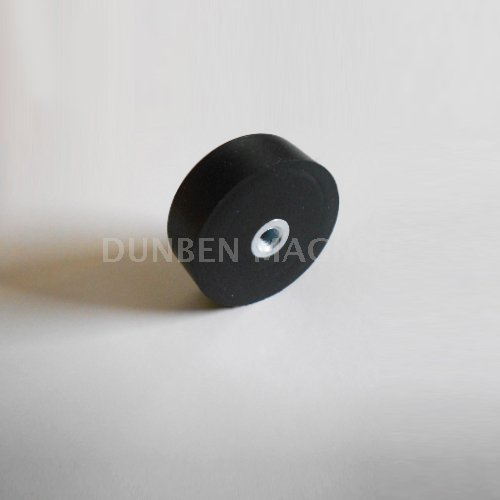 Rubber Coated Pot Magnets with hook / Eyebolt, Neodymium Black Rubber Covered Round Base Magnet,Rubber coated Clamping Magnets, Round Ceiling Magnets,Rubber Coated Neodymium Pot with Mounting