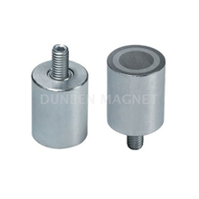 AlNiCo Holding Magnet With External Threaded, Alnico Deep Pot Holding Magnet AlNiCo with with external thread, Bar Cylindrical Rod AlNiCo Magnet steel body with threaded